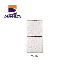 Bottom price Interior Wall Paneling - 30cm hot stamping pvc panels for decorative plastic tiles design DS-114 – Dingsen