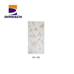 Factory Outlets Waterproof Bathroom Wall Covering Panels - Marble Glossy Hot stamping PVC Ceiling Panels in Haining DS-106 – Dingsen