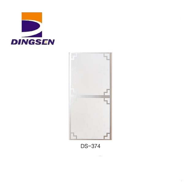 New Fashion Design for Four Wave Interior Decoration Pvc Panel - 30cm hot stamping pvc panels for decorative plastic tiles design DS-374 – Dingsen