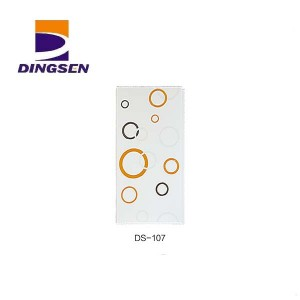 Factory Price For Waterproof Pvc Wall Panels - Marble Glossy Hot stamping PVC Ceiling Panels in Haining DS-107 – Dingsen