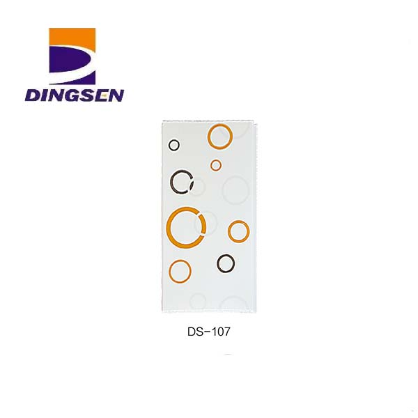 Online Exporter Pvc Ceiling Light Panel - Marble Glossy Hot stamping PVC Ceiling Panels in Haining DS-107 – Dingsen