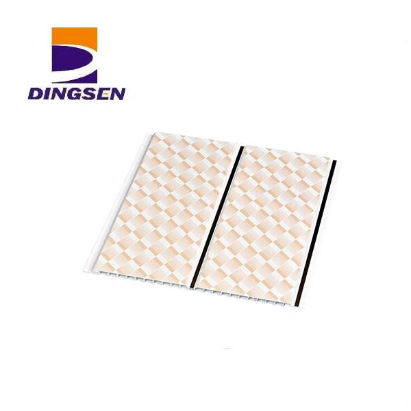 2017 Latest Design Fireproof Ceiling Tiles - Construction materials wood design price pvc ceiling panel plastic wall panel pvc ceiling board pvc wall panel DS003 – Dingsen Featured Image
