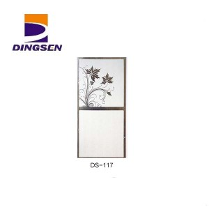 Factory wholesale 40cm Pvc Wall Panel - 30cm hot stamping pvc panels for decorative plastic tiles design DS-117 – Dingsen