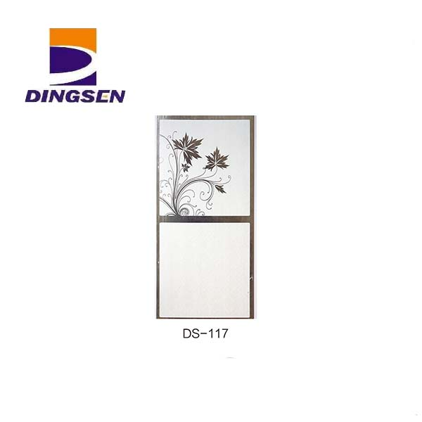 Hot New Products Wall Panels For Bathrooms - 30cm hot stamping pvc panels for decorative plastic tiles design DS-117 – Dingsen detail pictures
