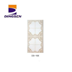 Wholesale Engineering Wall Panel - Marble Glossy Hot stamping PVC Ceiling Panels in Haining DS-106 – Dingsen