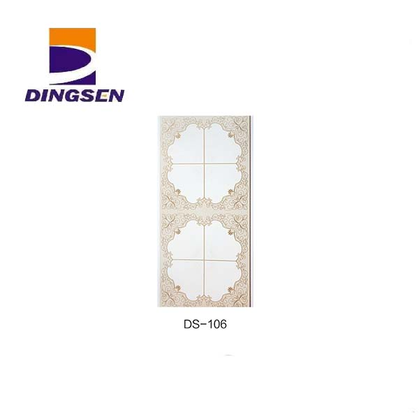 Low MOQ for Large Scale Pvc Wall Panels Exterior - Marble Glossy Hot stamping PVC Ceiling Panels in Haining DS-106 – Dingsen